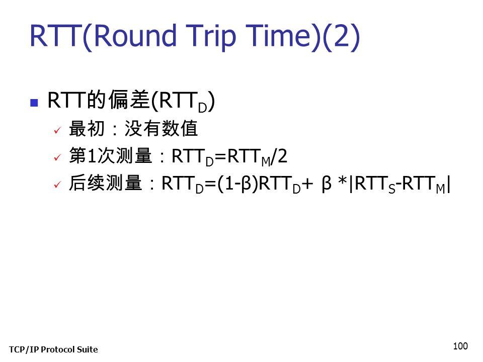 RTT(Round Trip Time)(2)