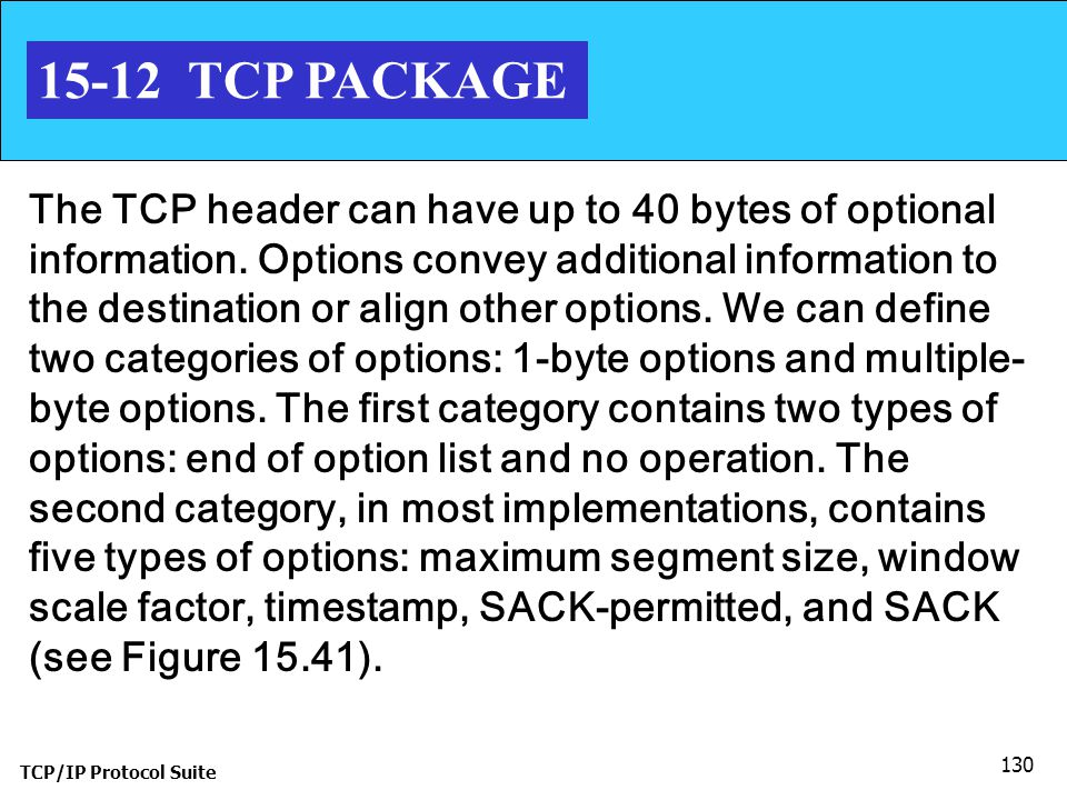 15-12 TCP PACKAGE