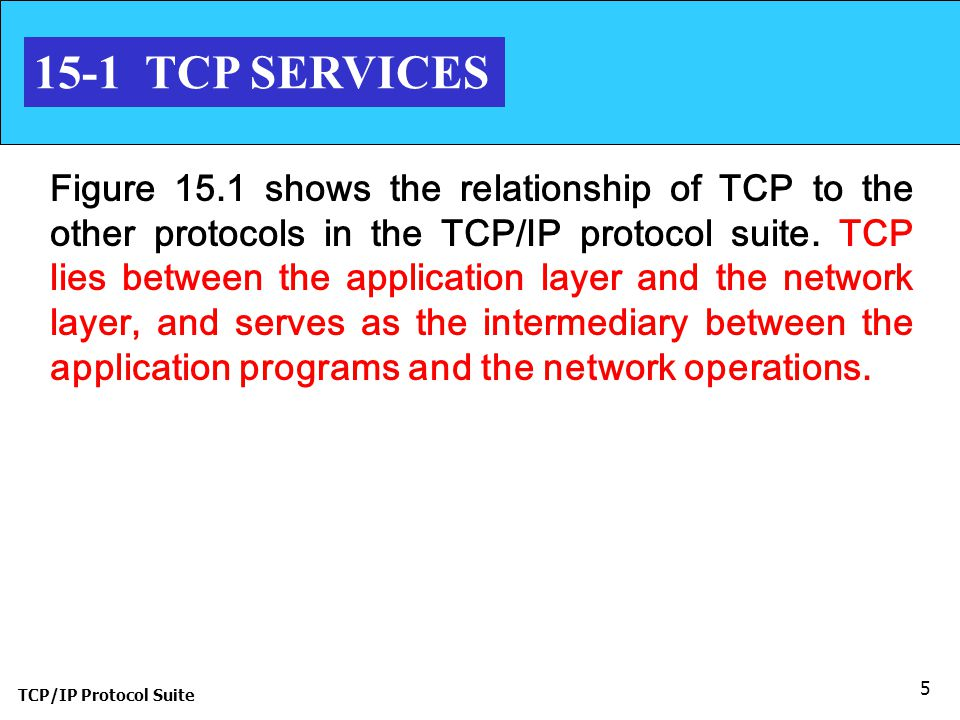 15-1 TCP SERVICES