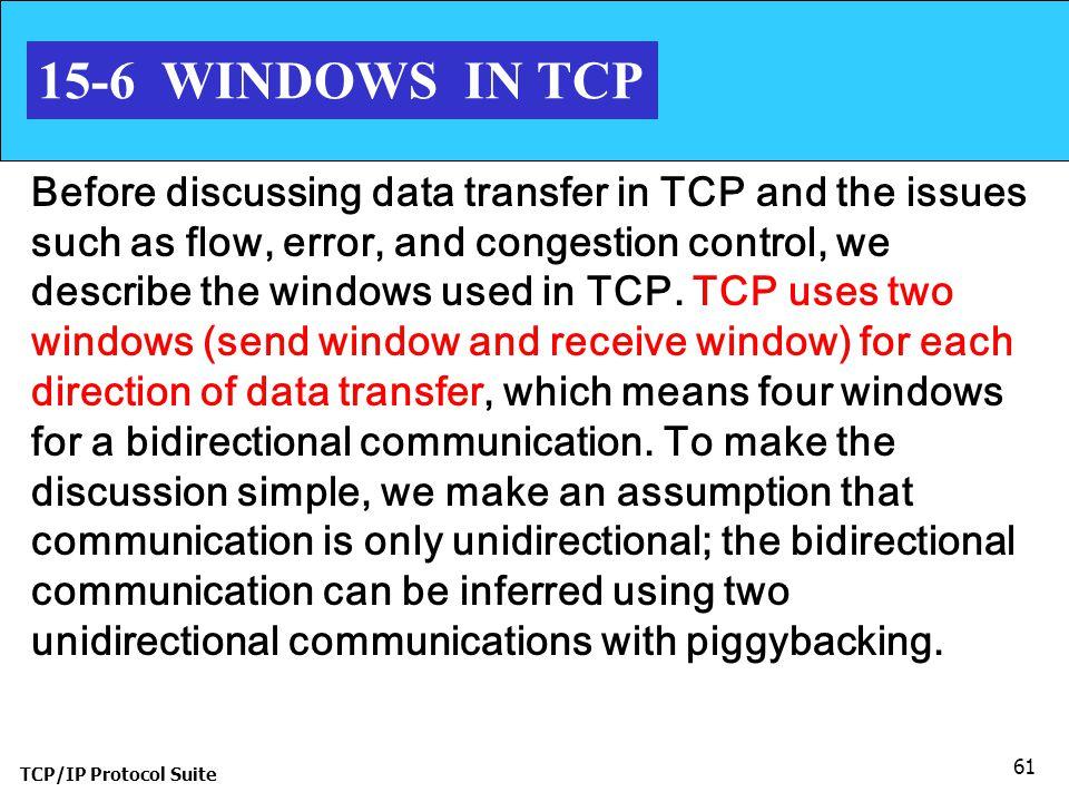 15-6 WINDOWS IN TCP