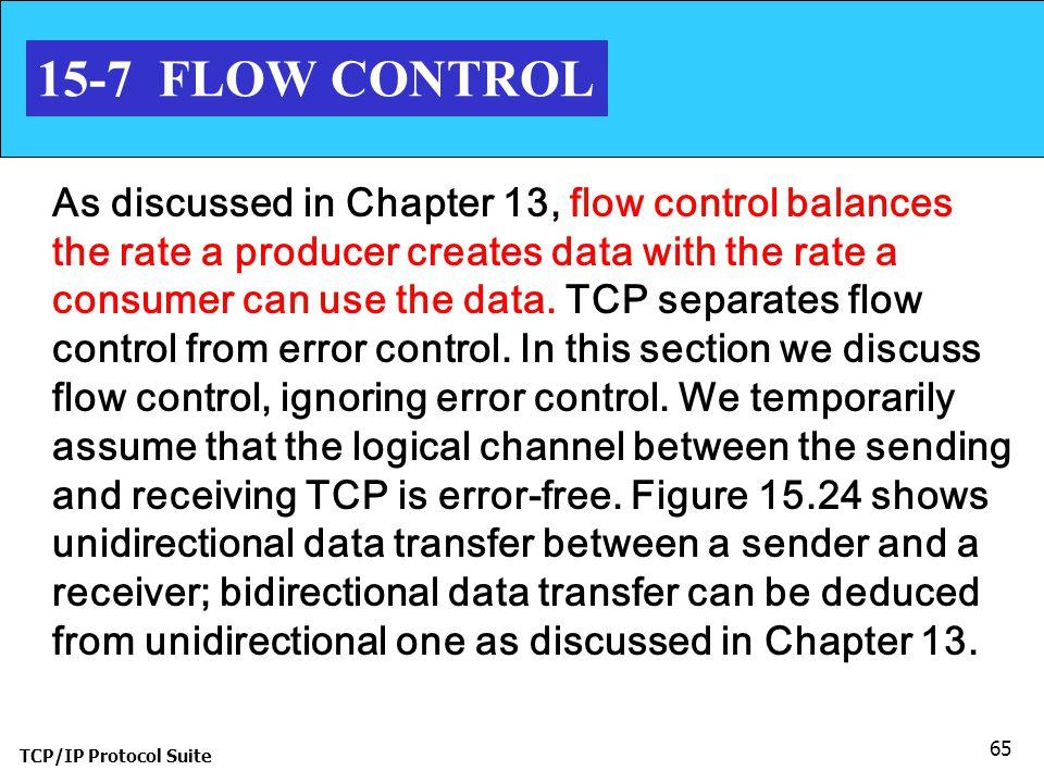 15-7 FLOW CONTROL