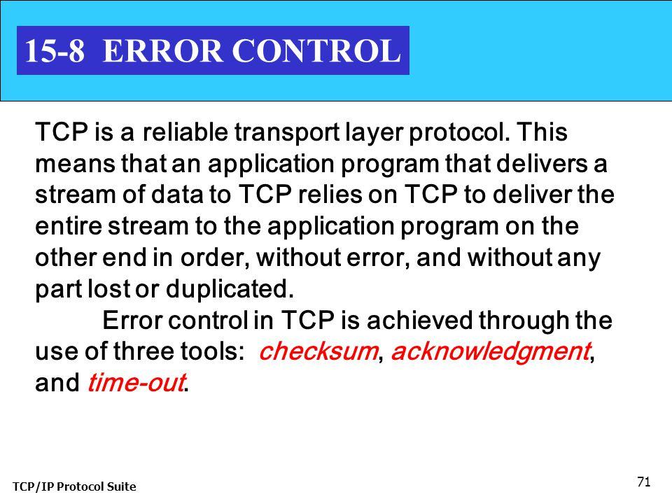 15-8 ERROR CONTROL