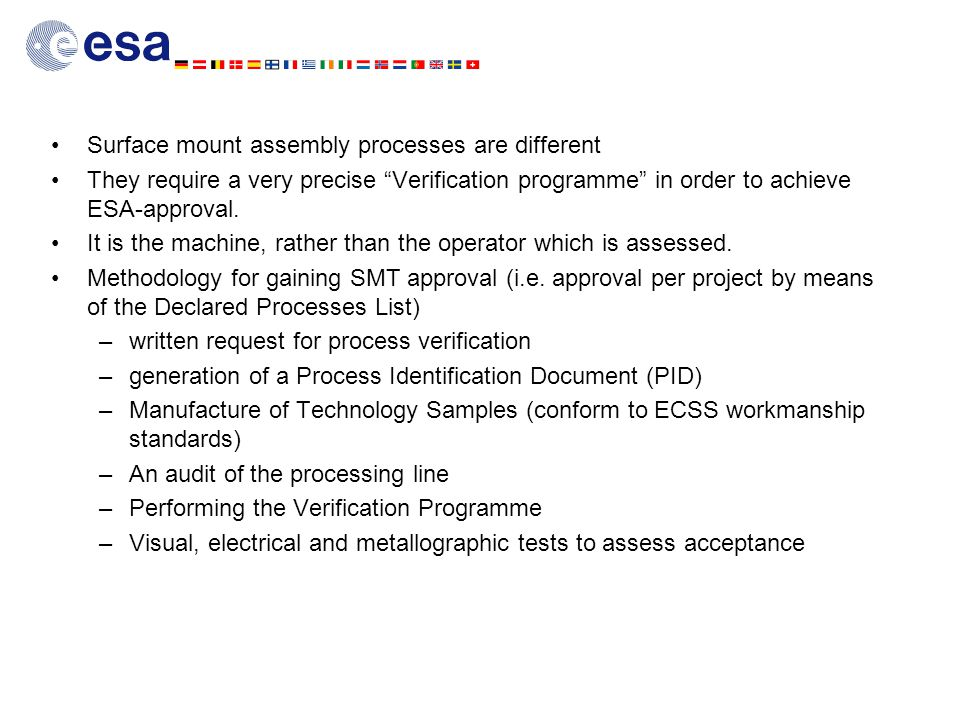 Surface mount assembly processes are different