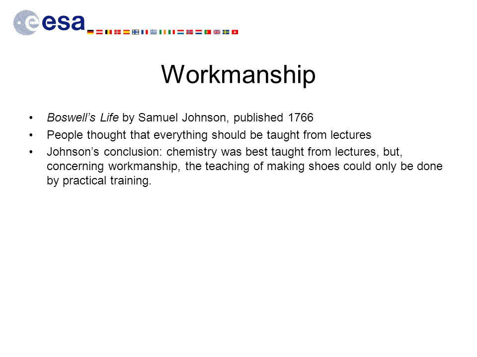 Workmanship Boswell's Life by Samuel Johnson, published 1766