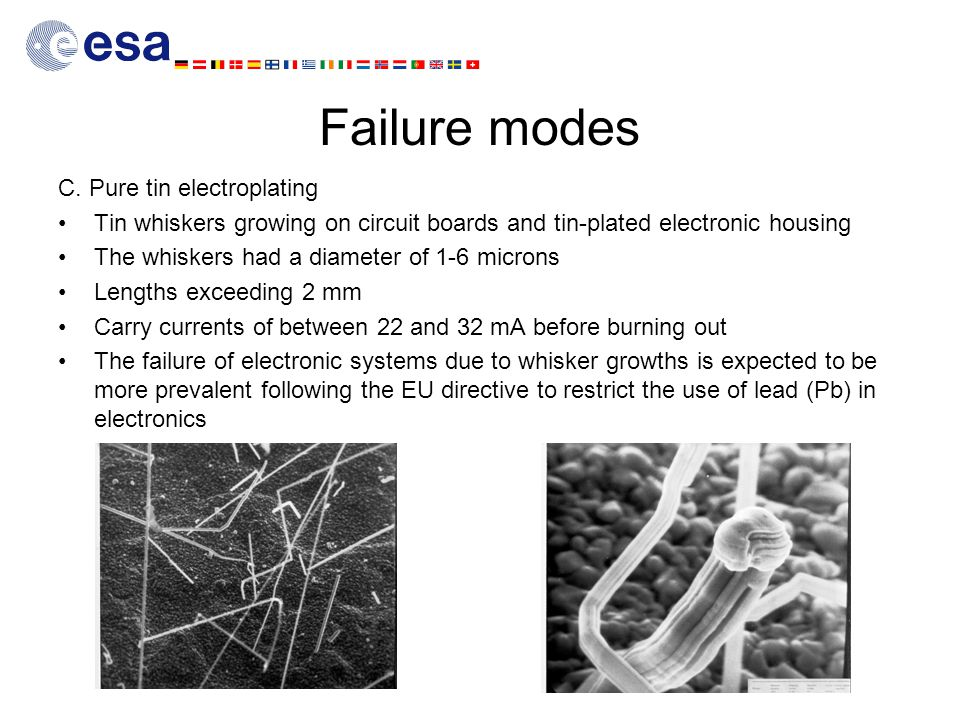 Failure modes C. Pure tin electroplating