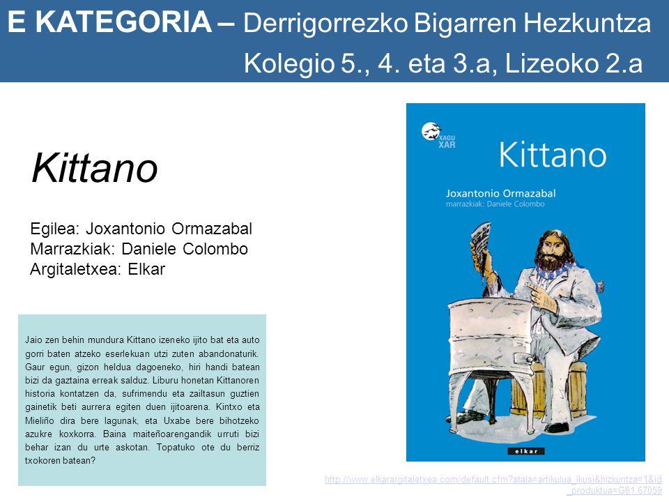 Kittano E KATEGORIA – Derrigorrezko Bigarren Hezkuntza