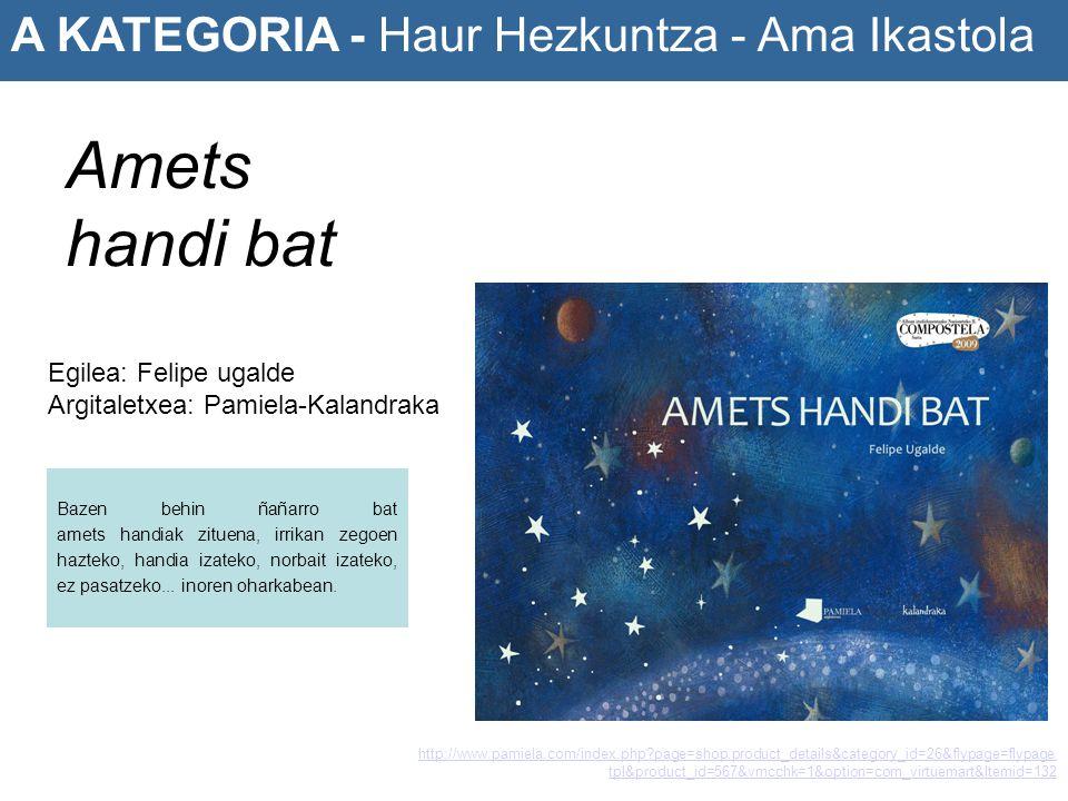 Amets handi bat A KATEGORIA - Haur Hezkuntza - Ama Ikastola