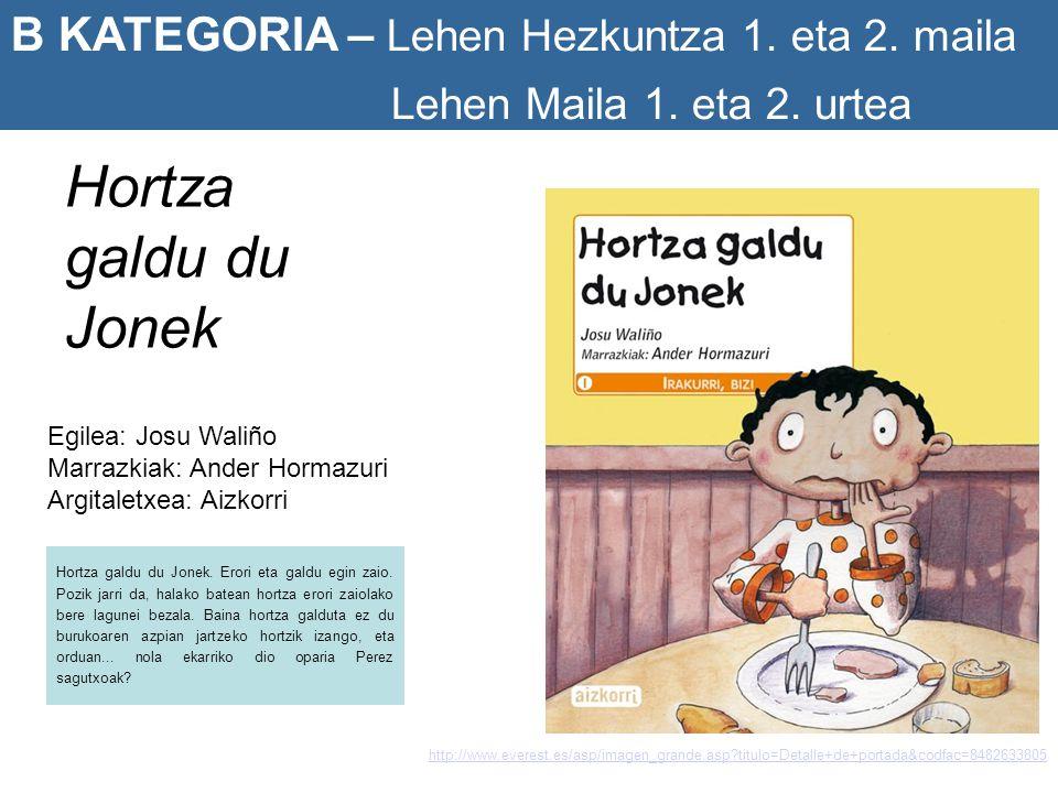 Hortza galdu du Jonek B KATEGORIA – Lehen Hezkuntza 1. eta 2. maila