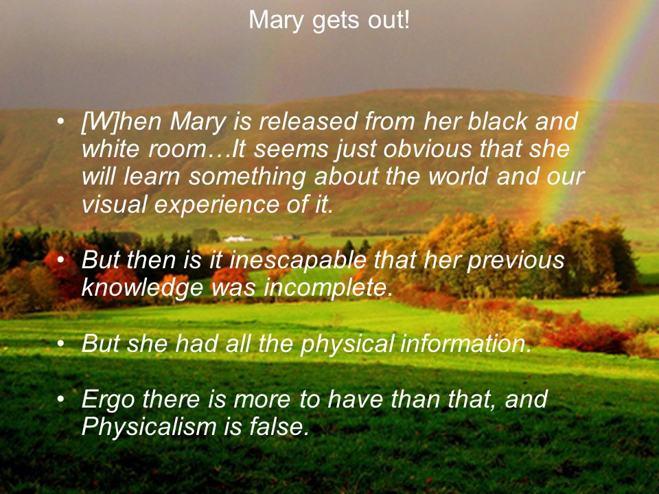 Mary gets out!