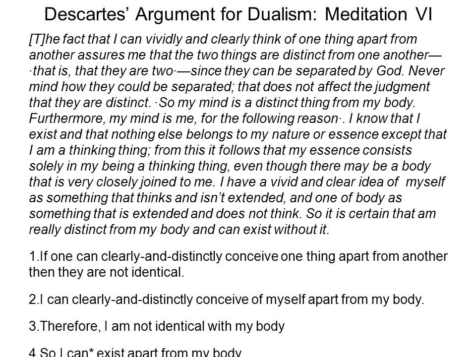 Descartes Sixth Meditation