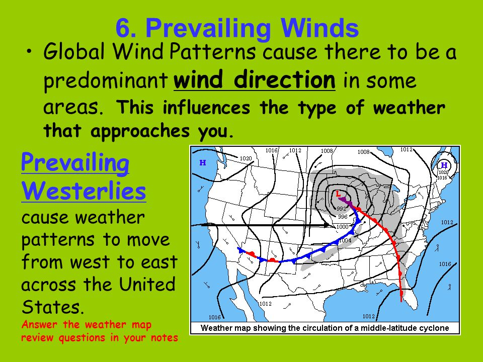 6. Prevailing Winds