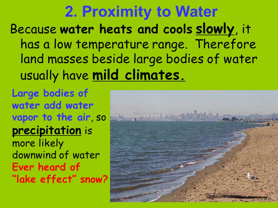 2. Proximity to Water