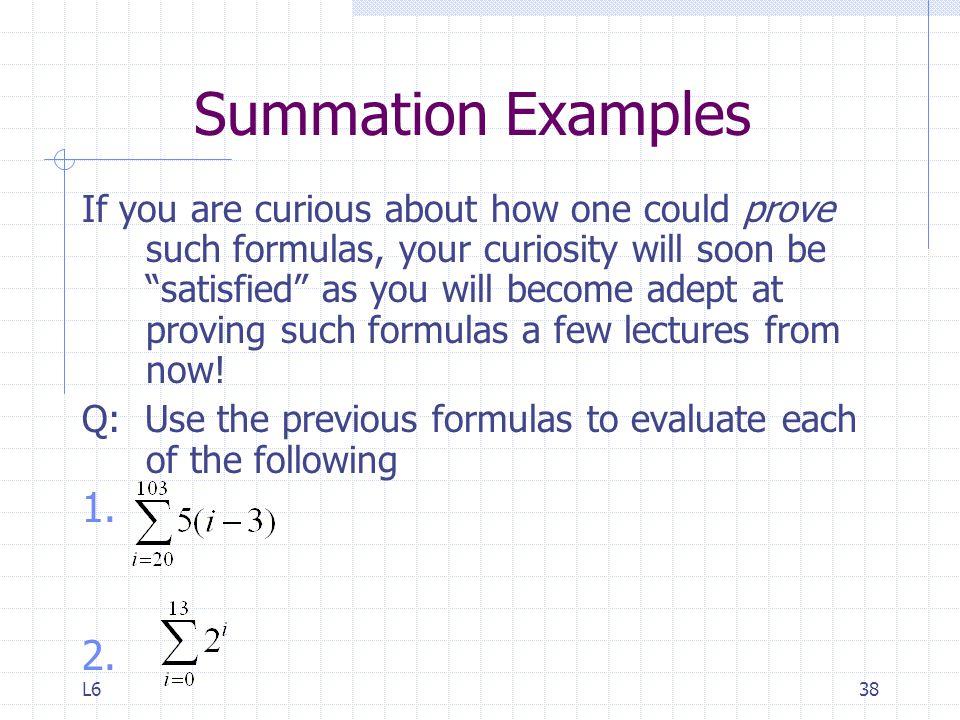 Summation Examples