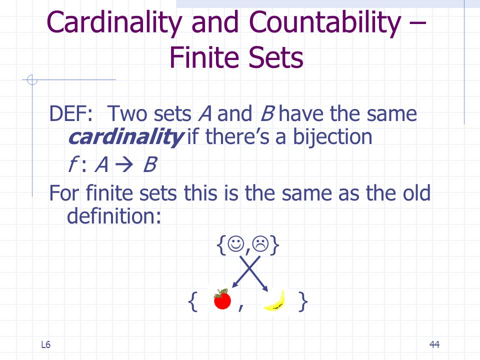 Cardinality and Countability – Finite Sets