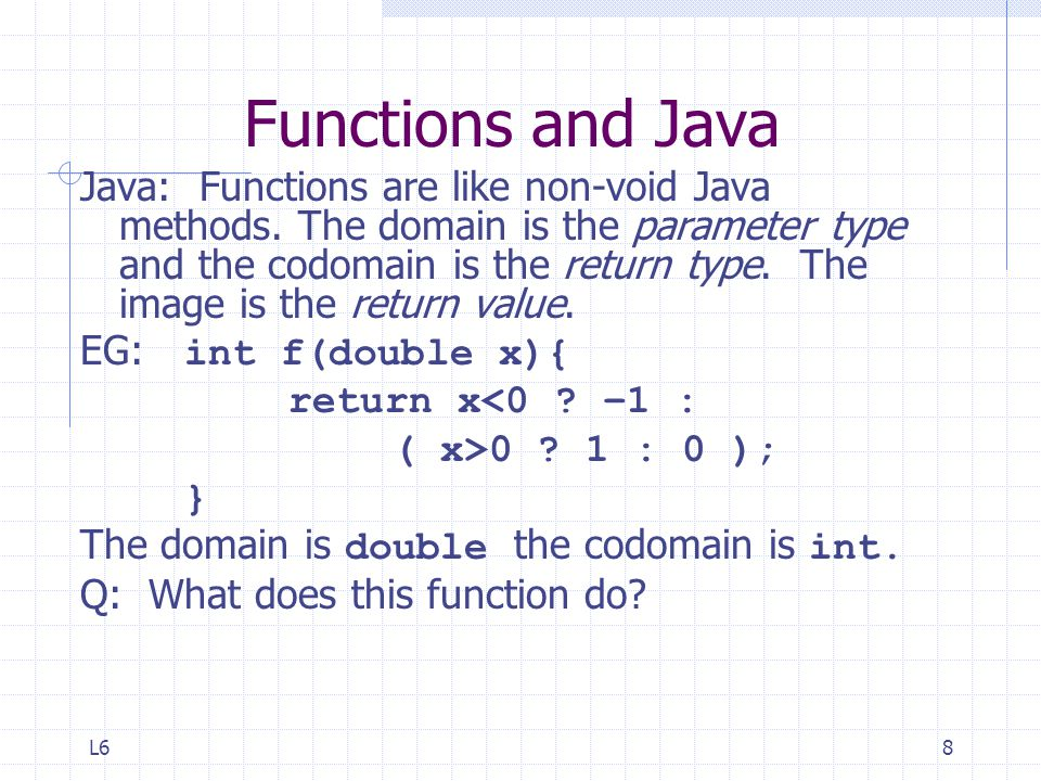Functions and Java