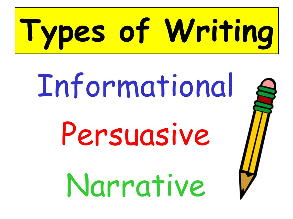 types of narrative writing