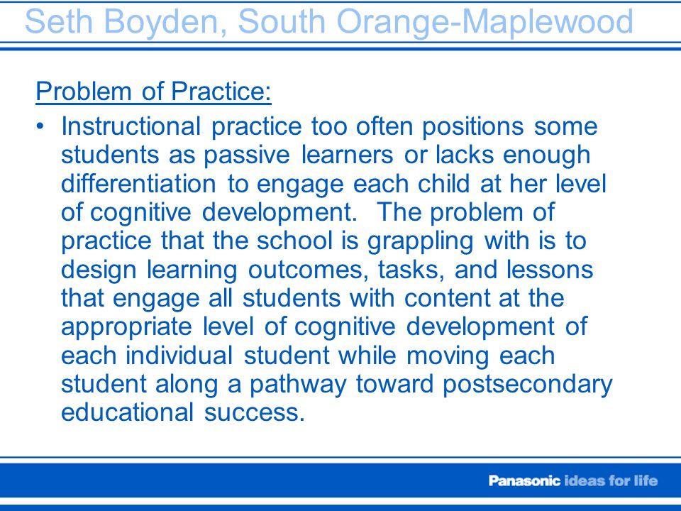 Seth Boyden, South Orange-Maplewood