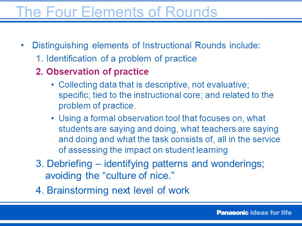 The Four Elements of Rounds