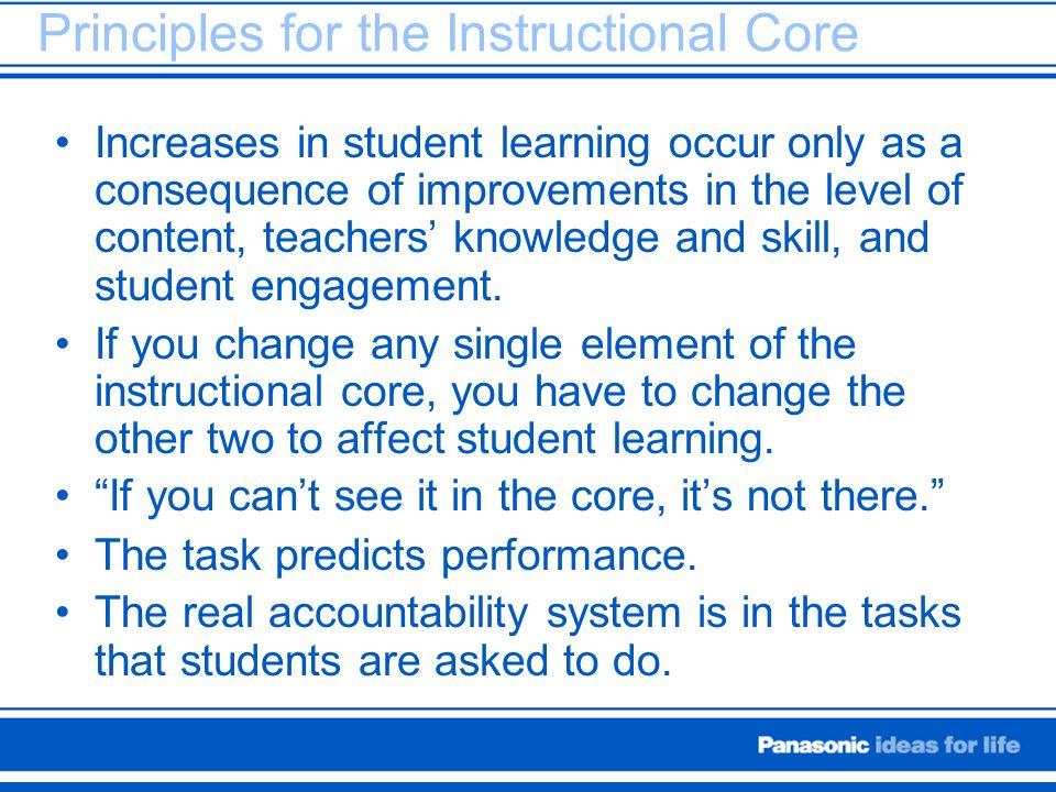 Principles for the Instructional Core