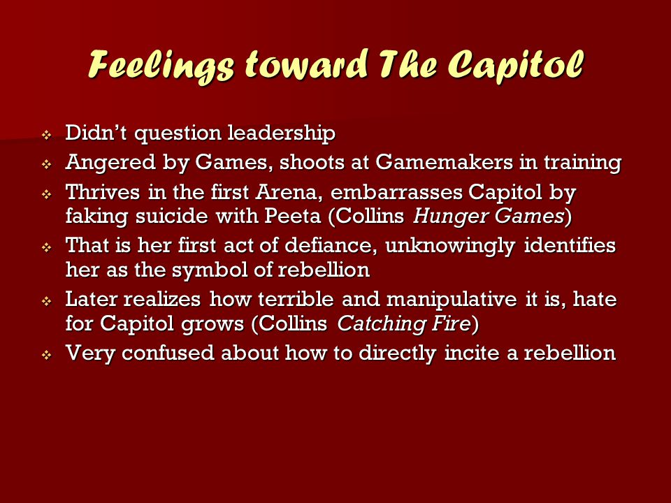 Feelings toward The Capitol