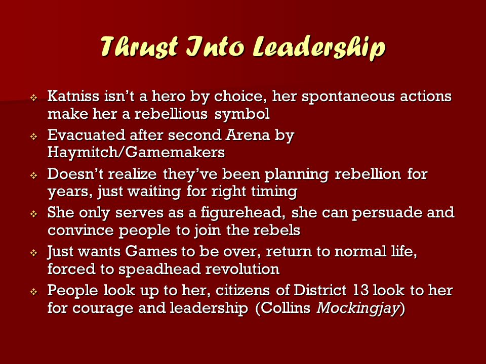 Thrust Into Leadership