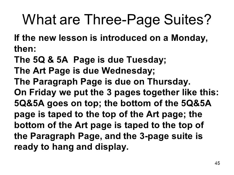 What are Three-Page Suites