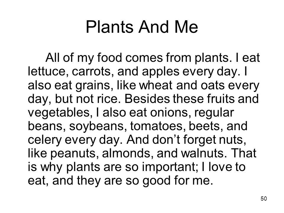 Plants And Me