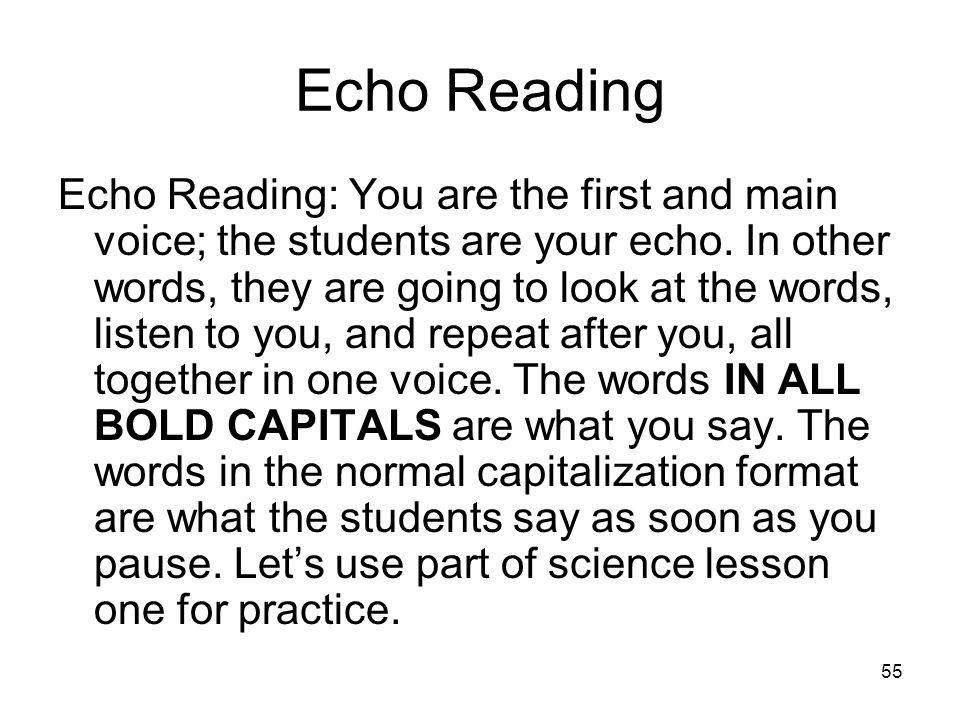 Echo Reading