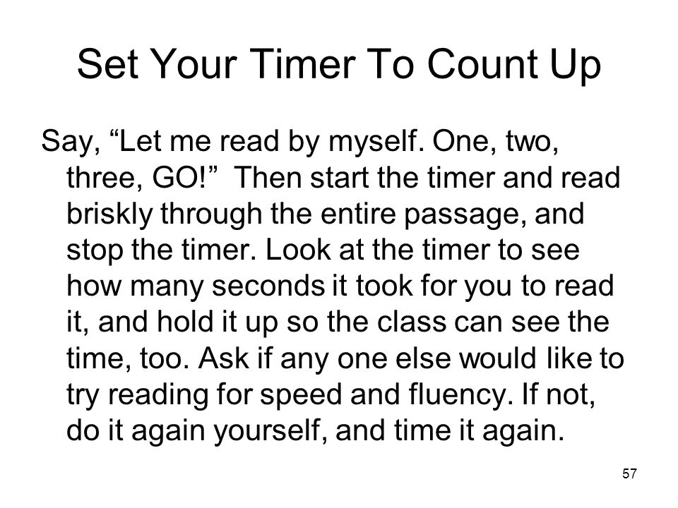 Set Your Timer To Count Up