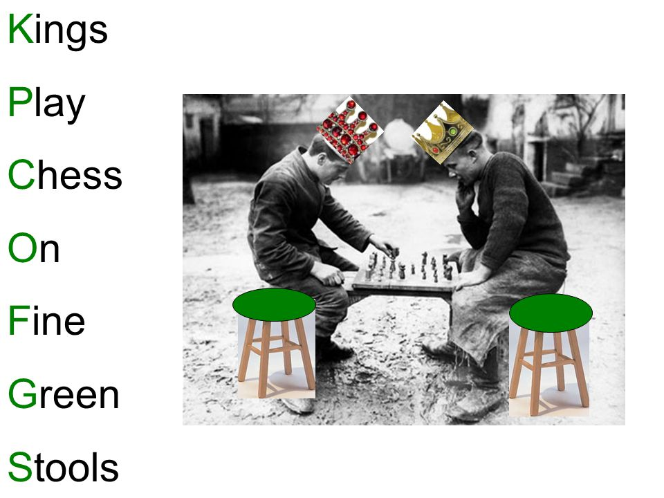 Kings Play Chess On Fine Green Stools