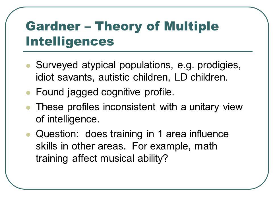 Gardner – Theory of Multiple Intelligences