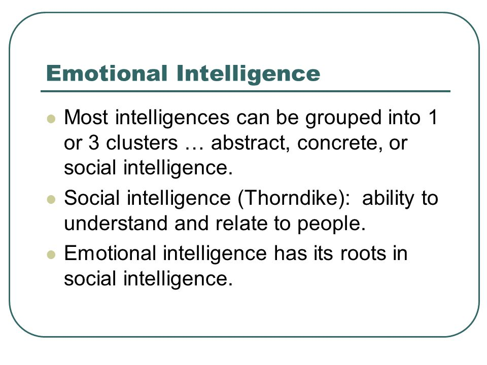 emotional intelligence dissertation abstracts