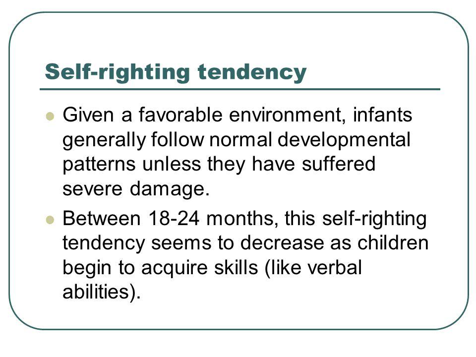 Self-righting tendency