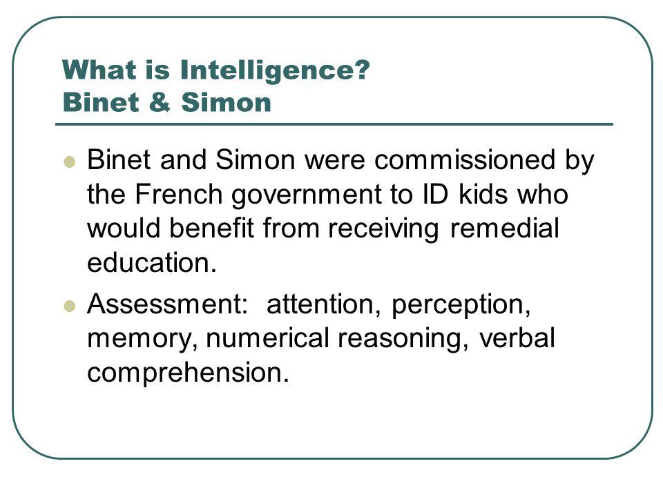 What is Intelligence Binet & Simon