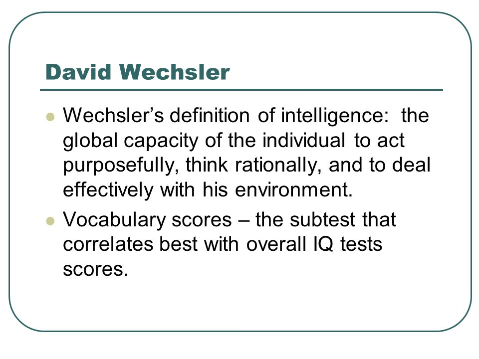 David Wechsler