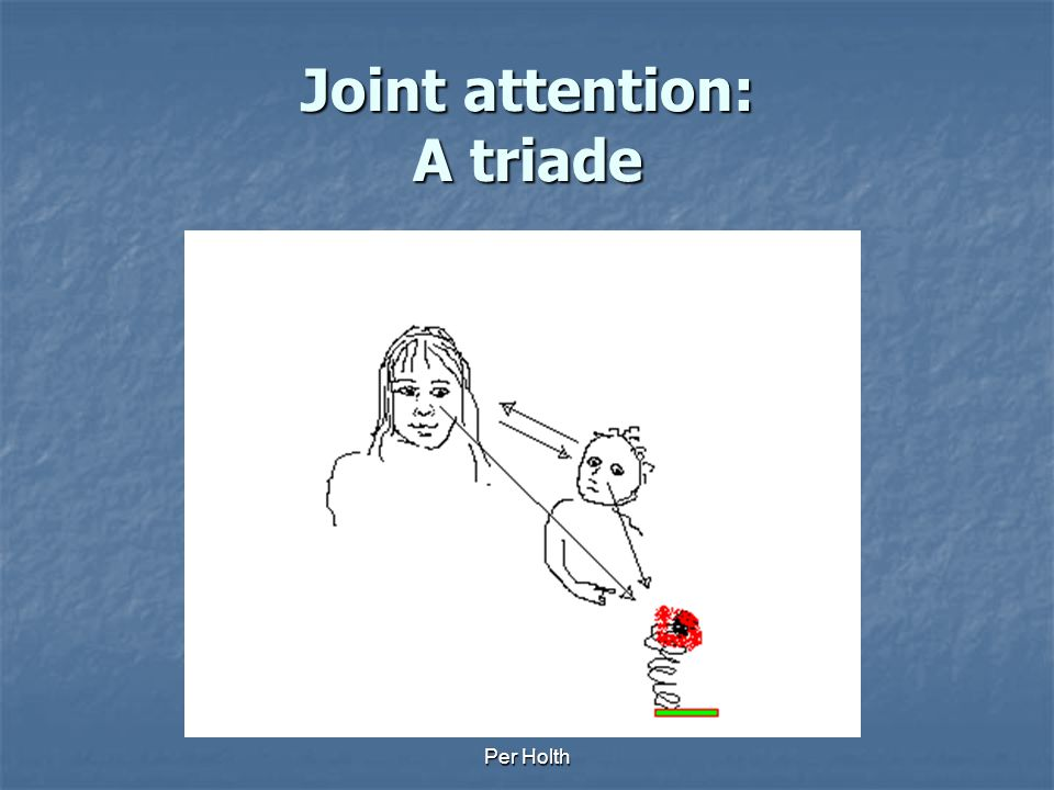 Joint attention: A triade