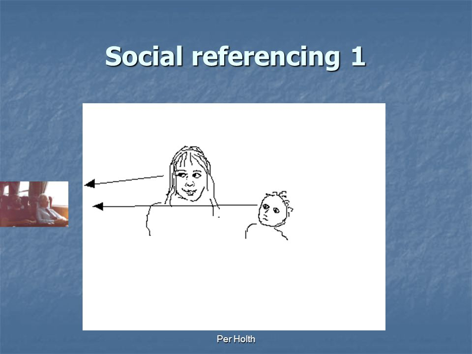Social referencing 1 Per Holth