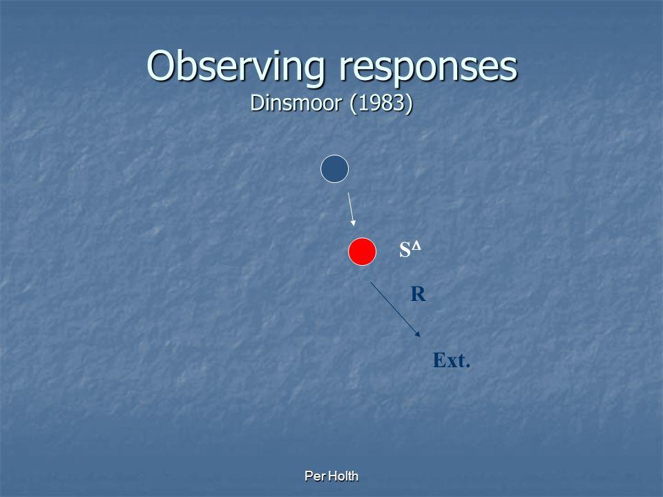 Observing responses Dinsmoor (1983)