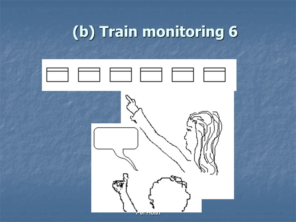 (b) Train monitoring 6 Stop! Per Holth