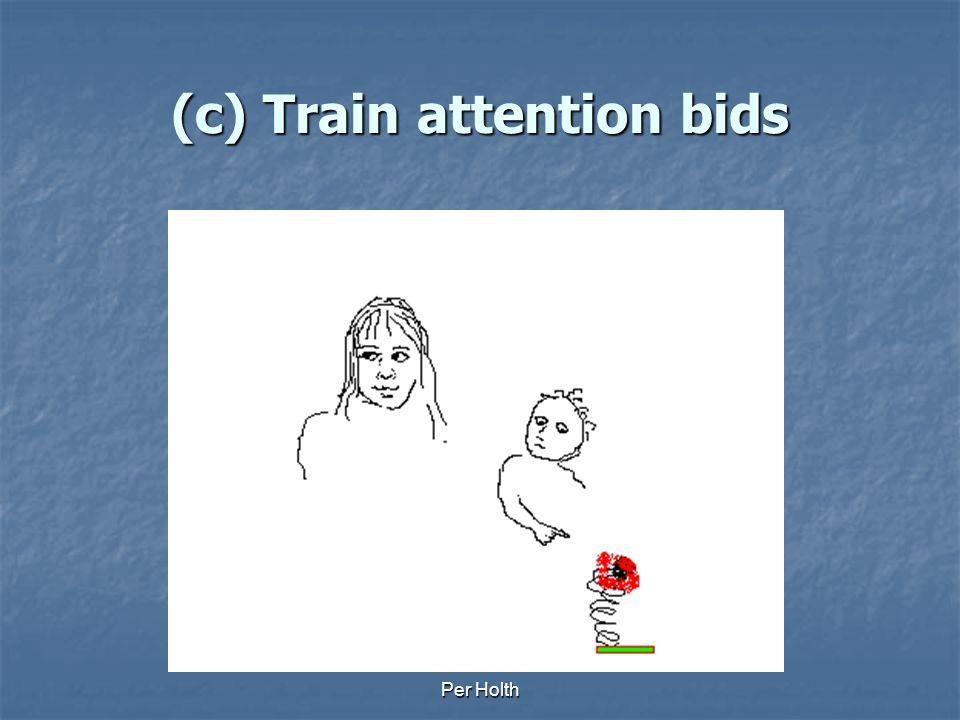 (c) Train attention bids