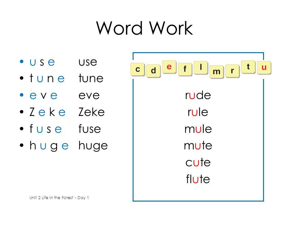 rude rule mule mute cute flute