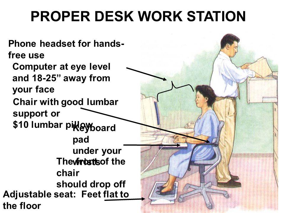 PROPER DESK WORK STATION