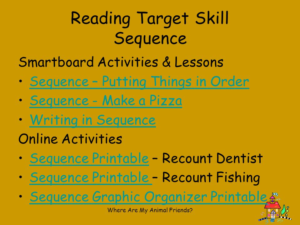 Reading Target Skill Sequence