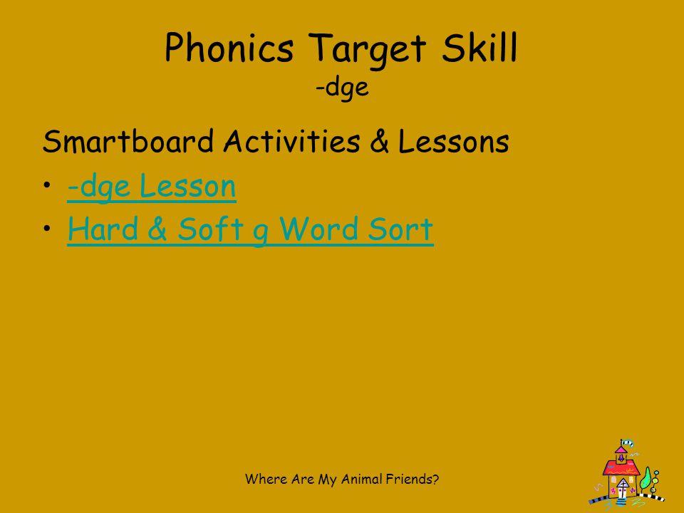 Phonics Target Skill -dge
