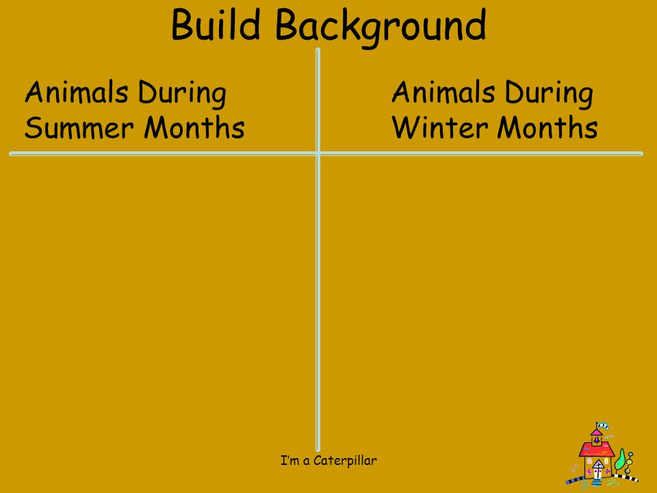 Build Background Animals During Summer Months