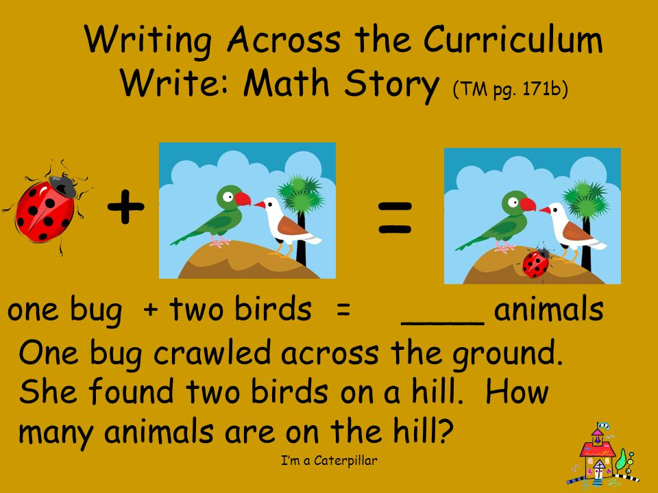 Writing Across the Curriculum Write: Math Story (TM pg. 171b)