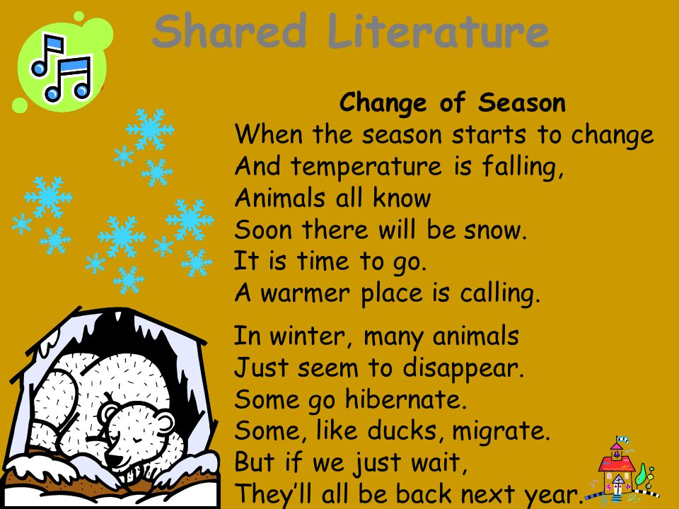 Shared Literature Change of Season When the season starts to change