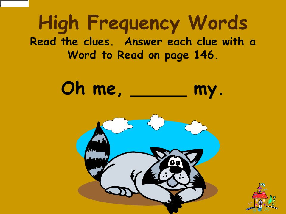 Read the clues. Answer each clue with a Word to Read on page 146.