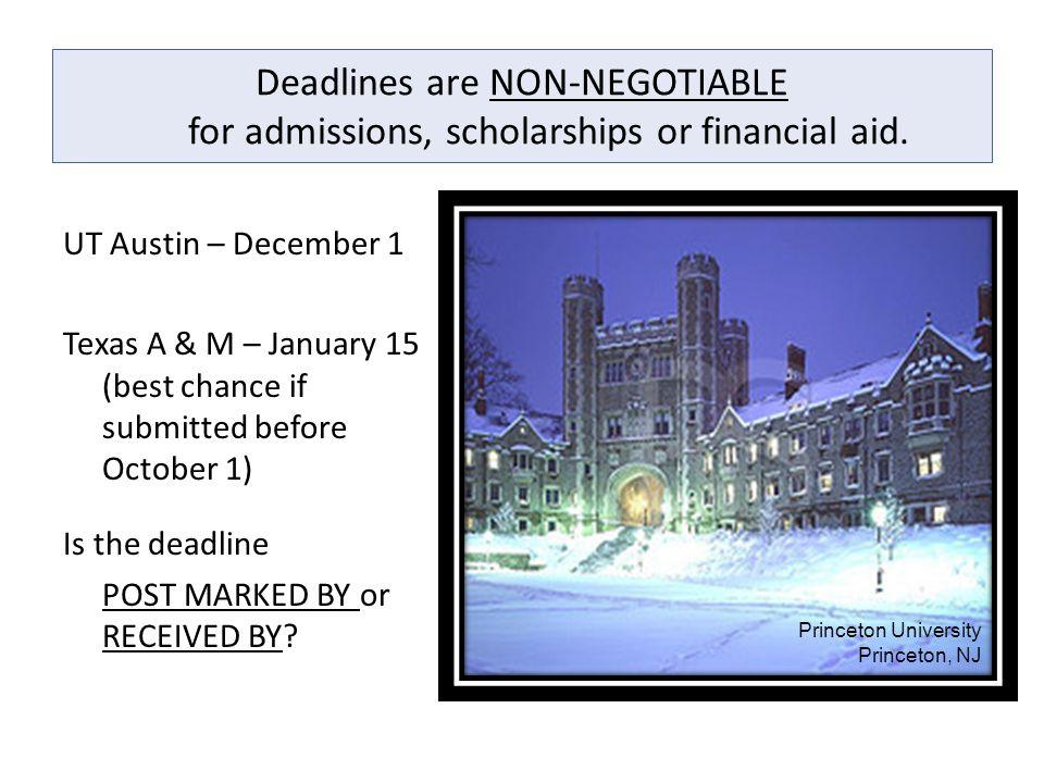 Deadlines are NON-NEGOTIABLE