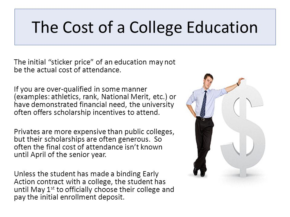 The Cost of a College Education